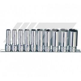 JUEGO DADO 1/2 LARGO HEX 10 PZAS. 10-24mm JTC-H410M