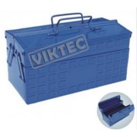 Caja Porta Herramientas Metálica 2 niveles VIKTEC 330*160*160mm